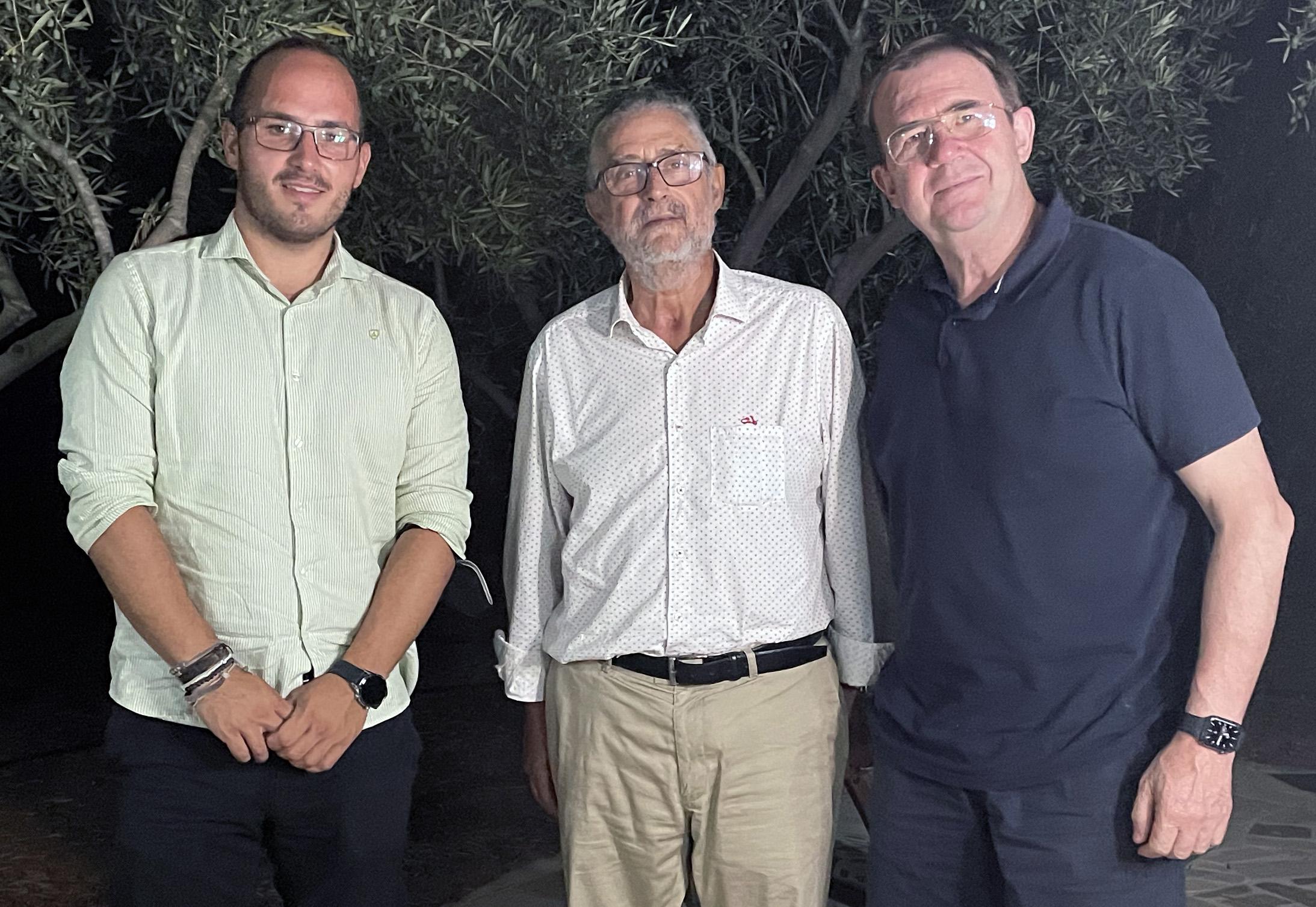 Encuentro del presidente de UCIN con el Alcalde de Albox (Almería) y el Teniente Alcalde de Illar (Almería)